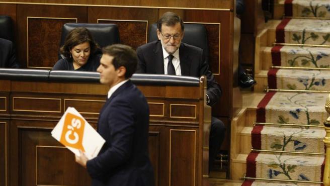 Rivera y Rajoy en el Congreso.