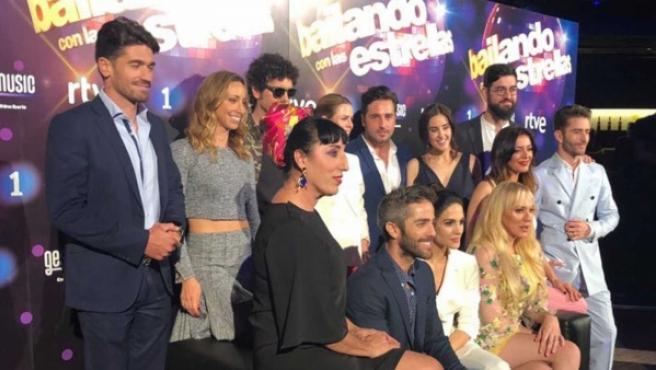 Concursantes y presentadores de 'Bailando con las estrellas'
