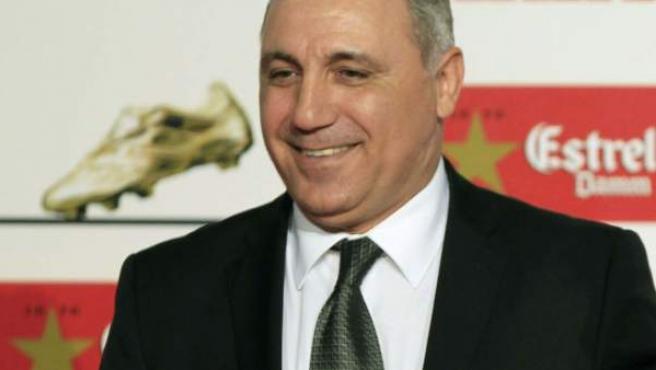 El exjugador de fútbol y actual entrenador búlgaro Hristo Stoichkov.