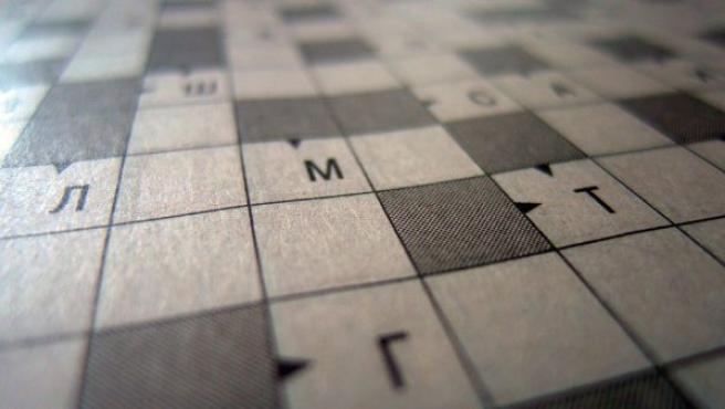 Imagen de un crucigrama sin resolver.