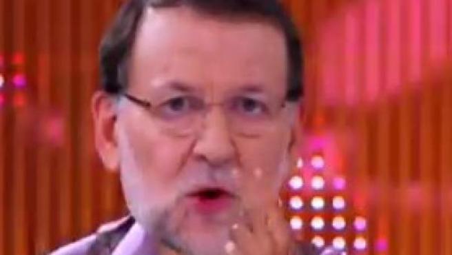 Rajoy, parodiado en Eurovisión.