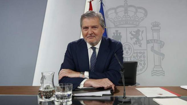 Méndez de Vigo, en rueda de prensa tras el Consejo de Ministros.