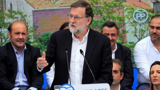 El presidente del Gobierno, Mariano Rajoy, en un acto en Jerez de la Frontera.