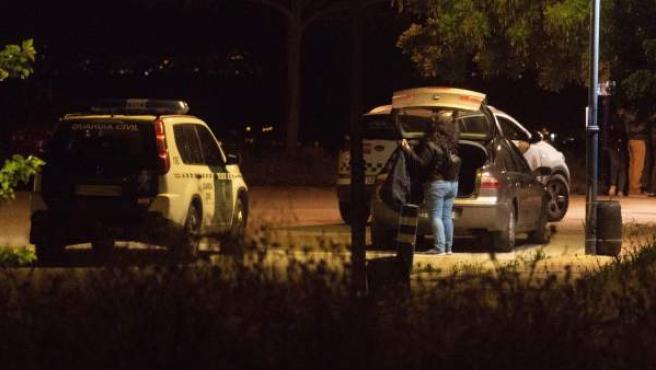 Imagen del campo de tiro de Las Gabias (Granada) donde una chica de 21 años y un joven de 24 han fallecido a consecuencia de disparos, un suceso que la Guardia Civil investiga como un posible caso de violencia de género, aunque sin descartar todavía la hipótesis del accidente.