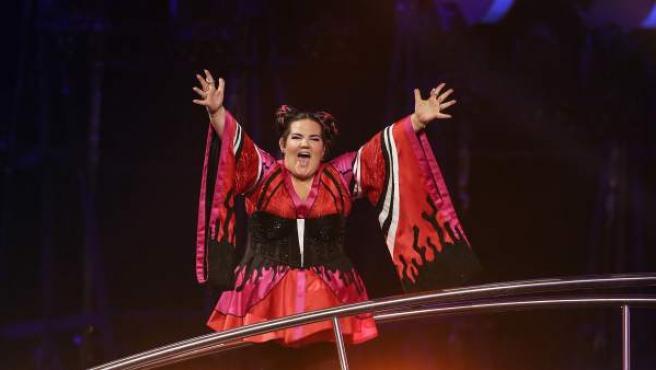 La cantante Netta, tras ganar el festival de Eurovisión 2018.