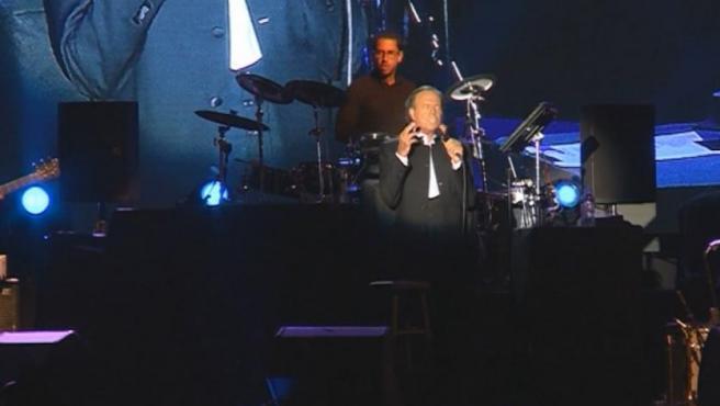 El cantante Julio Iglesias, en un concierto.