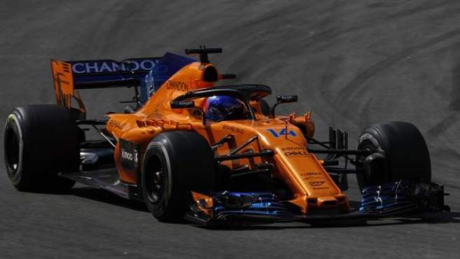 Fernando Alonso, durante el GP de España de Fórmula 1.