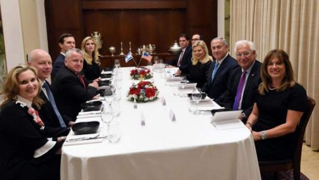 Cena de celebración del traslado de la embajada de Estados Unidos en Israel a Jerusalén.
