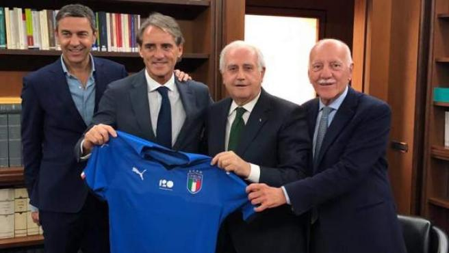 Roberto Mancini ha firmado hasta 2020 como seleccionador de Italia.
