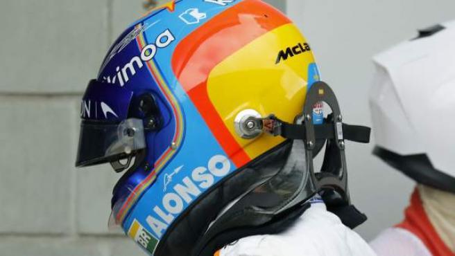 Casco de Fernando Alonso.