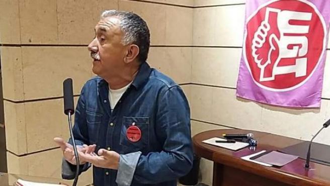 Pepe Álvarez en una comparecencia.