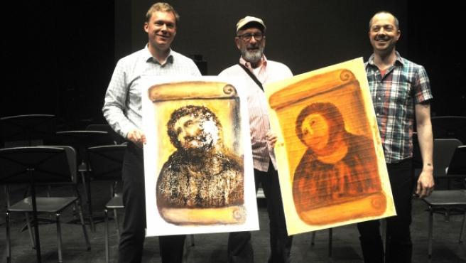 De izquierda a derecha: Brian DeMaris, Andrew Flack y Paul Fowler.