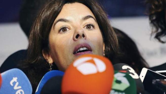 La vicepresidenta del Gobierno. Soraya Sáez de Santamaría.