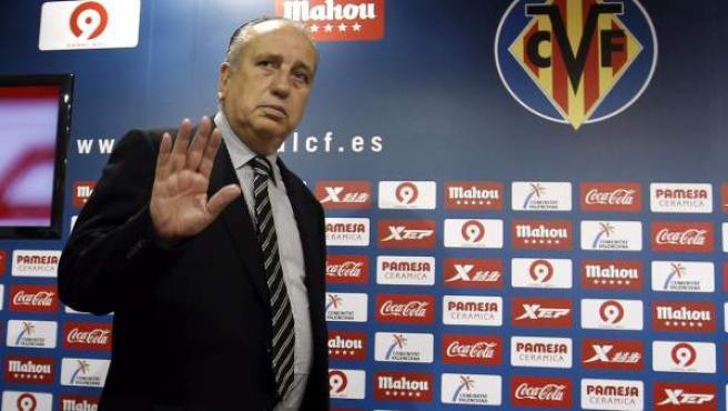Fernando Roig, presidente del Villarreal, en rueda de prensa.