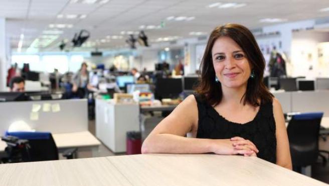 Adriana Lastra, vicesecretaria general del PSOE, en la redacción de 20minutos.