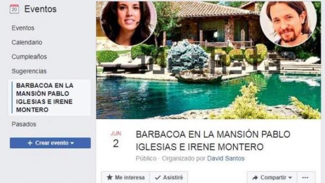 Evento en Facebook.