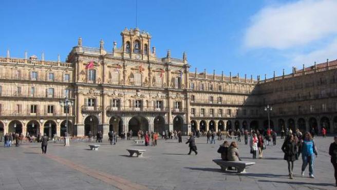 Fachada del Ayuntamiento de Salamanca.
