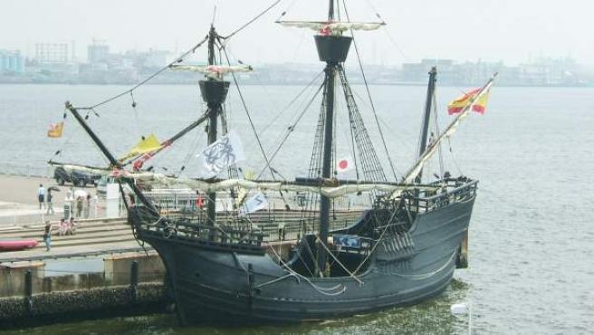 Réplica de la Nao Victoria, el único de los cinco barcos de Fernando de Magallanes que volvió a España en 1522.