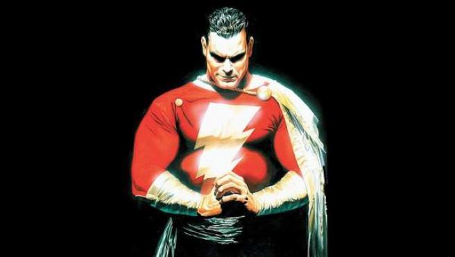 Ilustración del superhéroe Shazam.