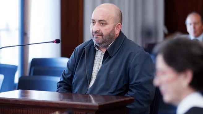 El exchófer de Guerrero, Francisco Trujillo Blanco, durante su declaración en el juicio de los ERE.