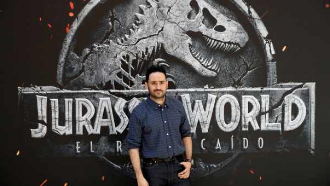 J. A. Bayona, en la premiere madrileña de 'Jurassic World: El reino caído'.