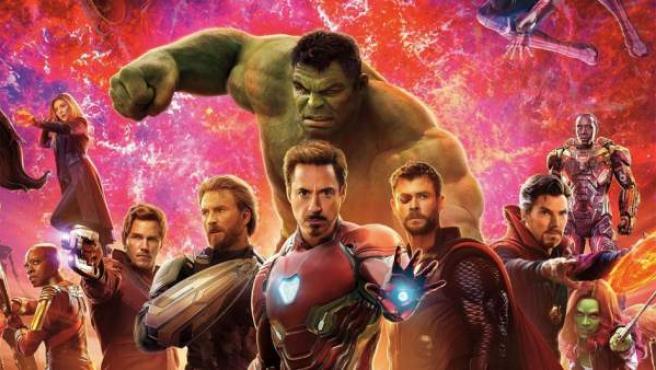 Uno de los diseños promocionales de 'Vengadores: Infinity War'