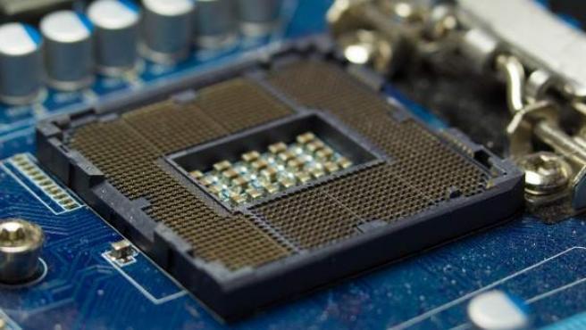 Fotografía de un microprocesador.