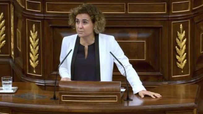 La ministra Dolors Montserrat en el Congreso.