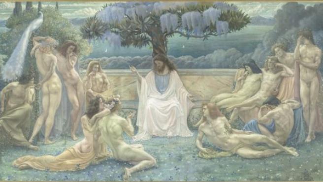 'La escuela de Platón', óleo del simbolista belga Jean Delville.