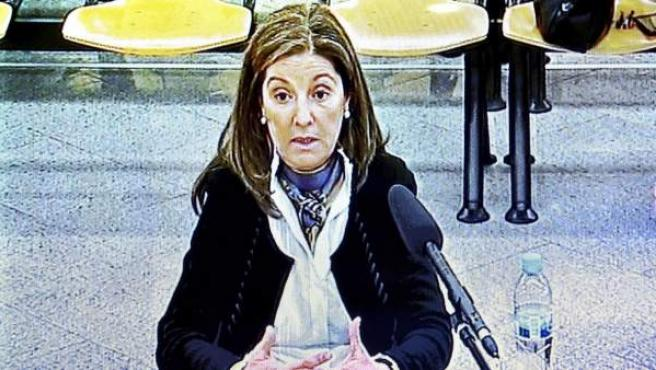 Rosalía Iglesias, durante su declaración en la Audiencia Nacional.