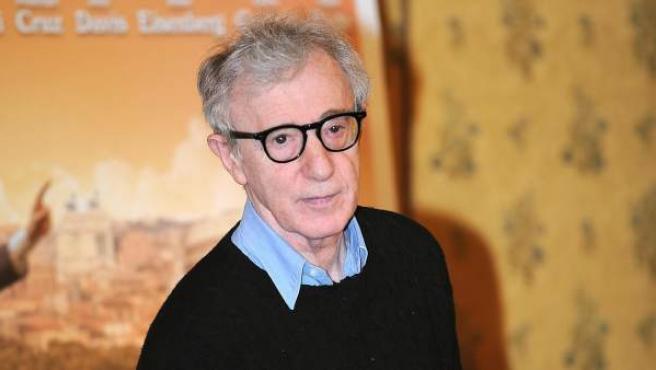 Woody Allen durante la 'premiere' mundial en Italia de la película 'A Roma con amor.
