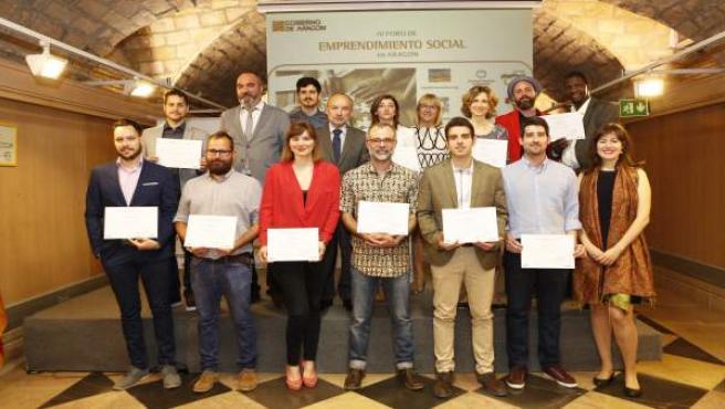Finalistas del Programa de Emprendimiento Social en Aragón