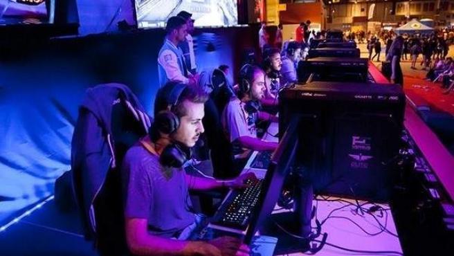 Una zona de 'eSports' en la Madrid Gaming Experience, en IFEMA.
