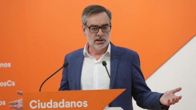 El secretario general de Ciudadanos, José Manuel Villegas, en rueda de prensa.