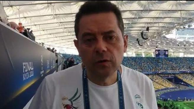Tomás Roncero, vaticinando el resultado de la final de la Champions.