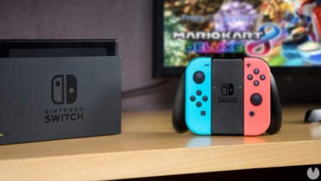 La consola de videojuegos Nintendo Switch.