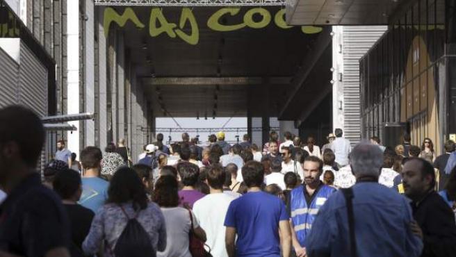 Entrada al festival Mad Cool en la Caja Mágica de Madrid en 2017.