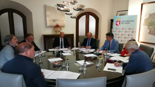 Reunión de la Junta de Portavoces de Dip. León 28-5-2018