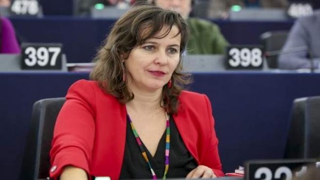 Ana Miranda en el pleno del Parlamento Europeo