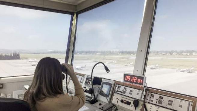 Vista del Aeropuerto de Córdoba desde su torre de control