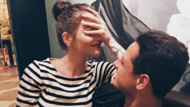 La actriz Andrea Duro y Chicharito, en una imagen de Instagram.