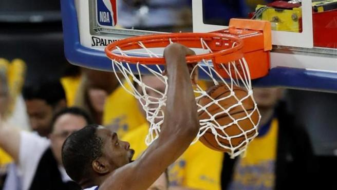 Kevin Durant, en un partido de los Golden State Warriors.