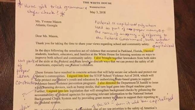 """La carta de Trump """"llena de erratas"""""""