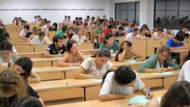 Estudiantes de selectividad.