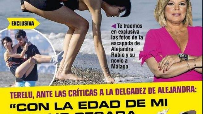 La revista Rumore muestra en su portada a la hija de Terelu Campos, Alejandra Rubio, en la playa.