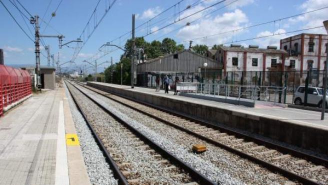 La estación de Mollet Sant Fost.