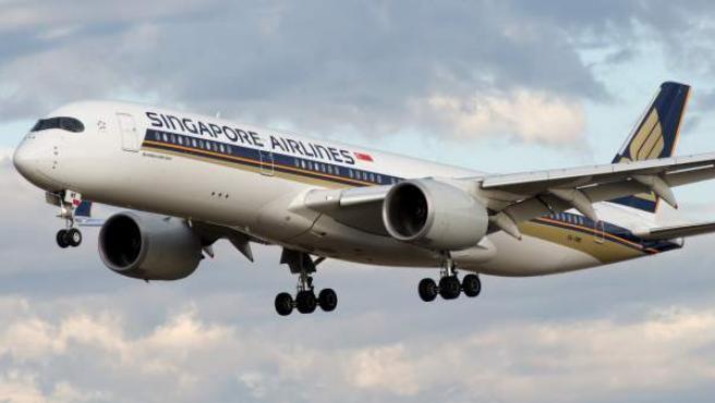 Un avión Airbus A350-900 de Singapore Airlines.