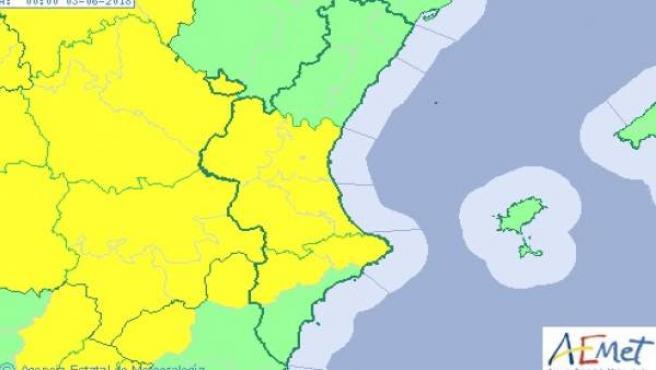 Avisos por lluvias activados este sábado, 2 de junio