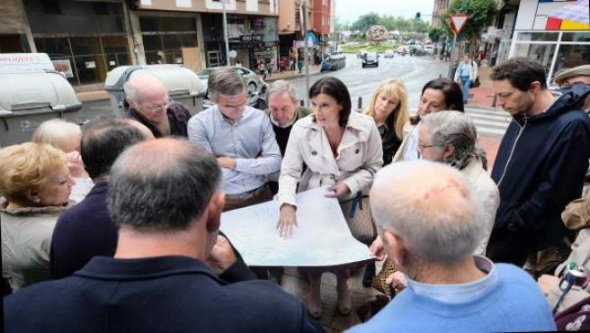 La alcaldesa Gema Igual presenta un proyecto a vecinos de Santander