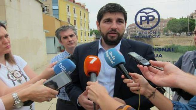 El presidente del PPRM y presidente regional, López Miras